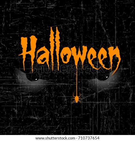 scary halloween eyes creative text halloween stock vector royalty free 710737654 shutterstock
