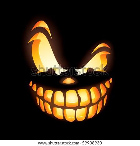 Scary Face Clipart Scary Jack o Lantern Faces
