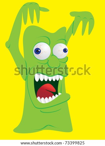scary monster creature screaming - illustration