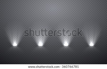 Scene illumination from below, transparent effects on a plaid dark  background. Bright lighting with spotlights. - stock vector