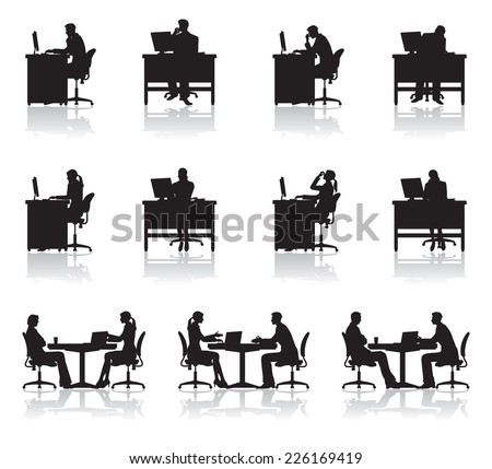 Scene of business / Shadow - stock vector