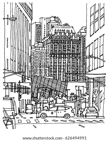 street scene coloring pages - photo#16