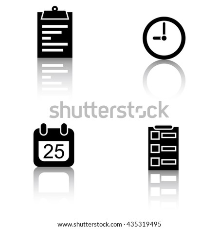 Schedule Icons - stock vector