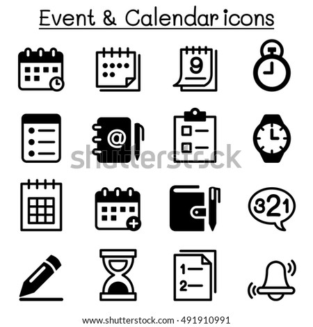 Calendar Or Schedule Icon. Symbol Of Planning Events And ... |Event Planner Symbol