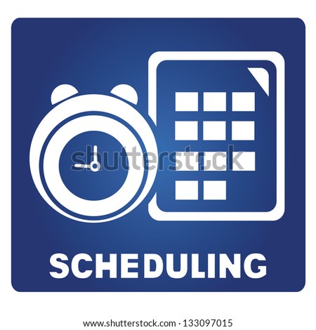 scheduling - stock vector