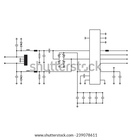 electric circuit diagram stock images  royalty
