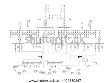 Schematic Diagram Power Supply Power Circuit Stock Photo (Photo ...