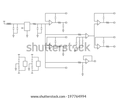 schematic diagram project electronic circuit graphic stock vector rh shutterstock com