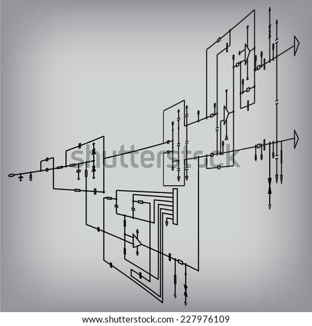 circuit diagram symbols stock images royalty images schematic diagram project of electronic circuit graphic