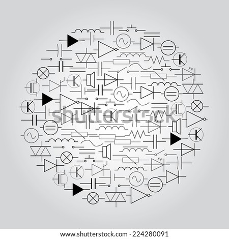 Schematic Symbols Electrical Engineering Circle Eps 10 Stock Vector ...