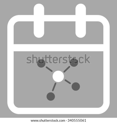 Scheme Date vector icon. Style is bicolor flat symbol, dark gray and white colors, rounded angles, silver background. - stock vector