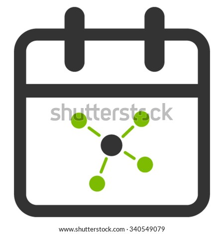 Scheme Day vector icon. Style is bicolor flat symbol, eco green and gray colors, rounded angles, white background. - stock vector