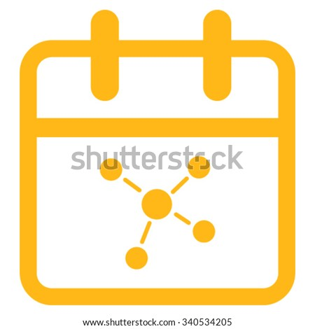 Scheme Day vector icon. Style is flat symbol, yellow color, rounded angles, white background. - stock vector