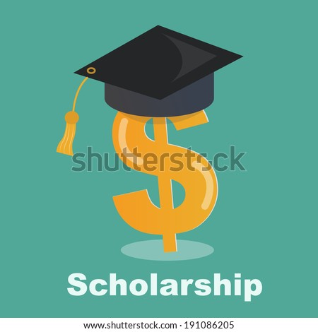 scholarship concept - Savings for higher education - stock vector
