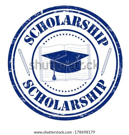 Scholarship grunge rubber stamp on white, vector illustration - stock vector