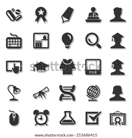Scholastics icon set 1 - stock vector