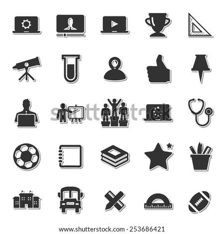 Scholastics icon set 3  - stock vector