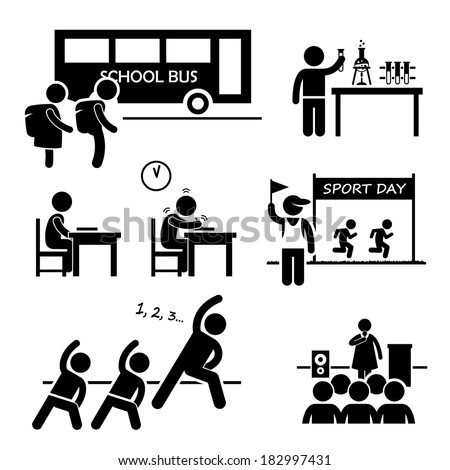 school activity event student stick figure stock vector 182997431 rh shutterstock com event planner clipart event planning clipart