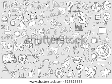 school and education background, drawing by hand vector