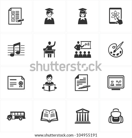 School and Education Icons - Set 2 - stock vector