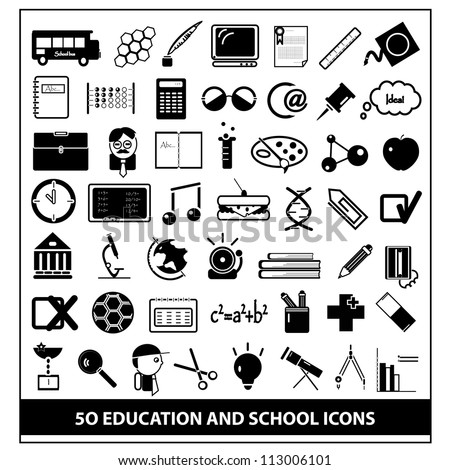 School and Education Icons, vector