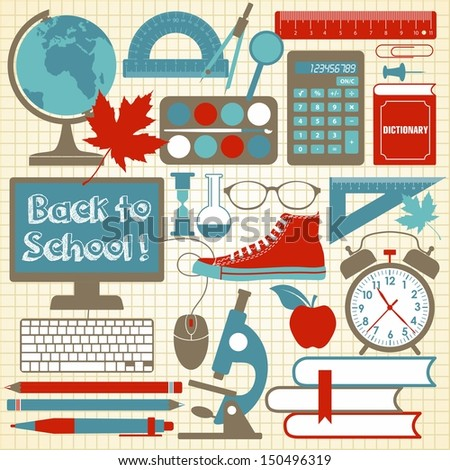School background.  - stock vector