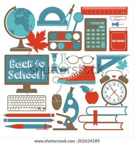 School background - stock vector