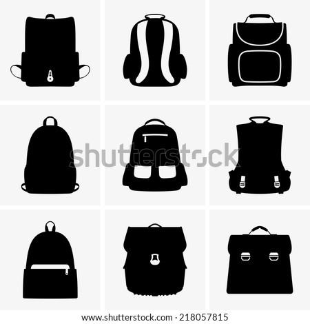 School bags - stock vector