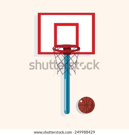 school basketball court theme elements vector,eps - stock vector