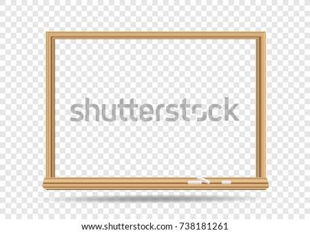 School Blackboard On Transparent Background Classroom Stock Vector ...