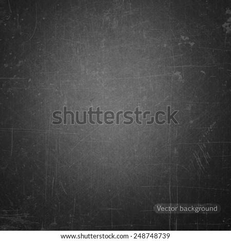 school  blackboard, vector background - stock vector