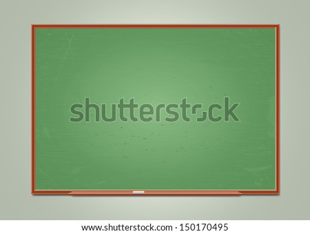 School blackboard. Vector illustration - stock vector