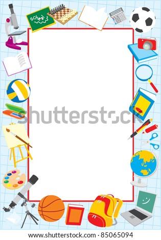 School border - stock vector