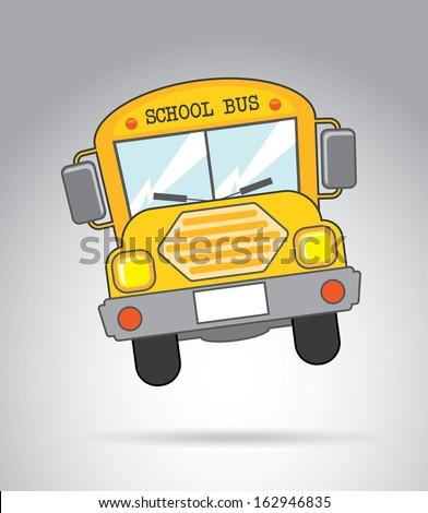 school bus icon over gray background vector illustration  - stock vector