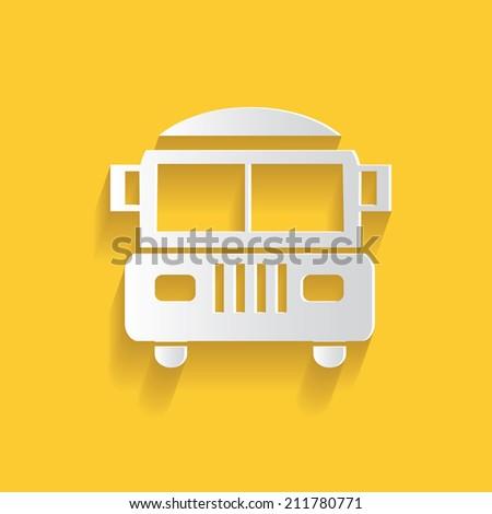 School bus symbol,clean vector - stock vector