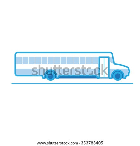 School Bus, transportation vehicles, Flat style vector illustration - stock vector