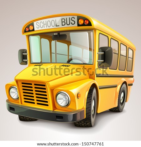 School bus vector illustration - stock vector