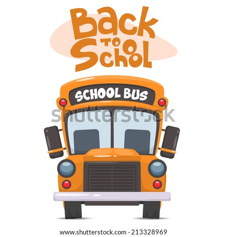 School bus. Vector illustration of School theme - stock vector