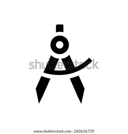School compass icon - stock vector