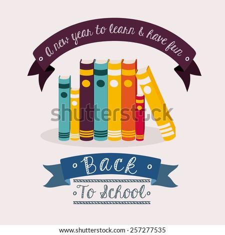 school desing over white background vector illustration. - stock vector