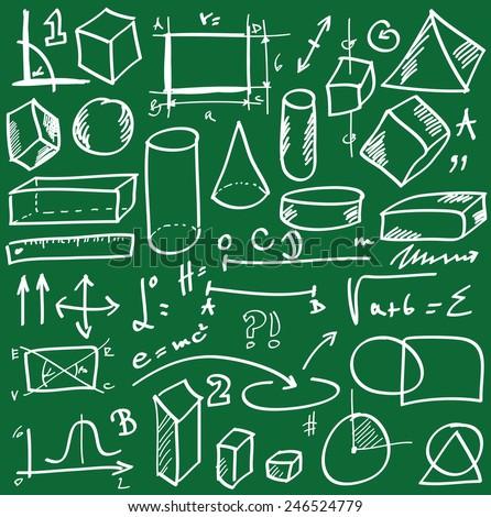 School doodle vector - stock vector