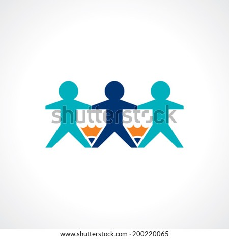 school education and teamwork symbol