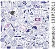 School education - doodles collection - stock vector