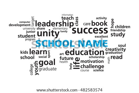 School Education Word Cloud Vector Template Stock Vector 482583574 ...