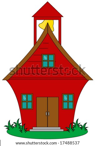 School house vector. - stock vector