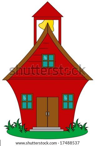 School house vector. - stock vector
