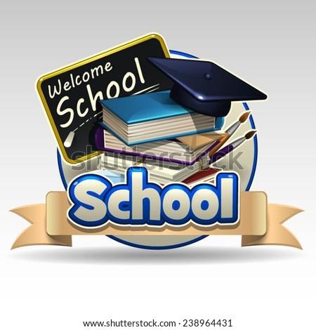 School icon  - stock vector