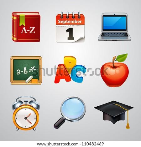 School icons-set 2 - stock vector