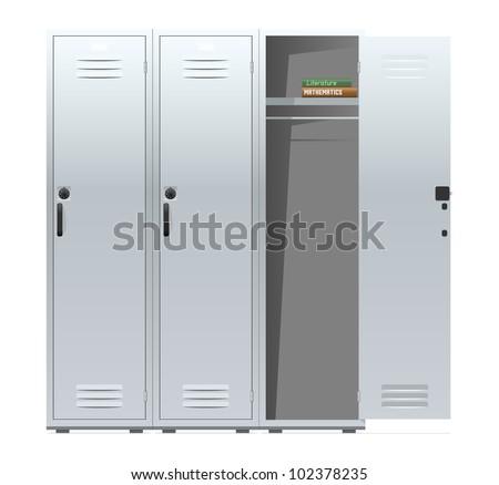 School lockers with combination locks. Vector illustration.  sc 1 st  Shutterstock & Locker Door Stock Images Royalty-Free Images u0026 Vectors | Shutterstock pezcame.com
