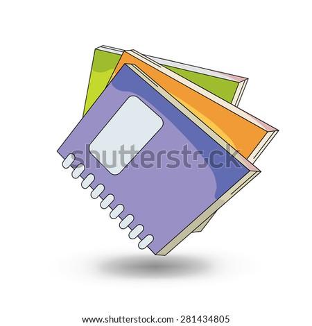 School notebooks. cartoon style design - vector - stock vector